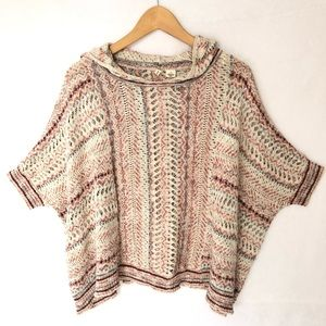 Anthropologie Moth Dolman Poncho Sweater S/M
